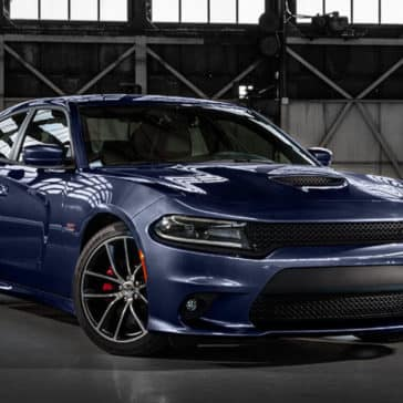 2017 Dodge Charger blue exterior model