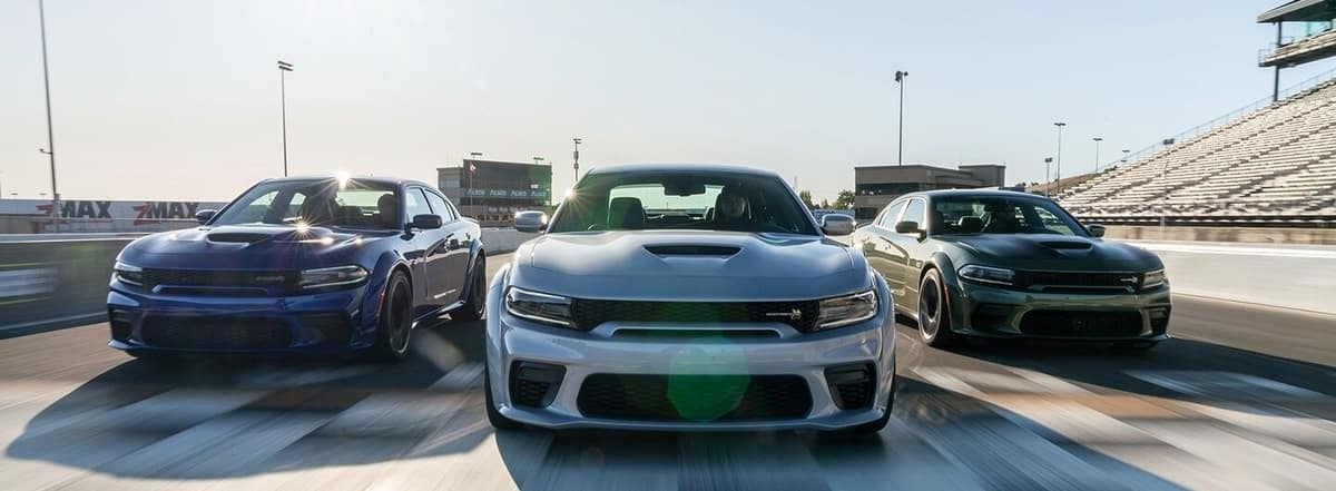 2020 Dodge Chargers on Track