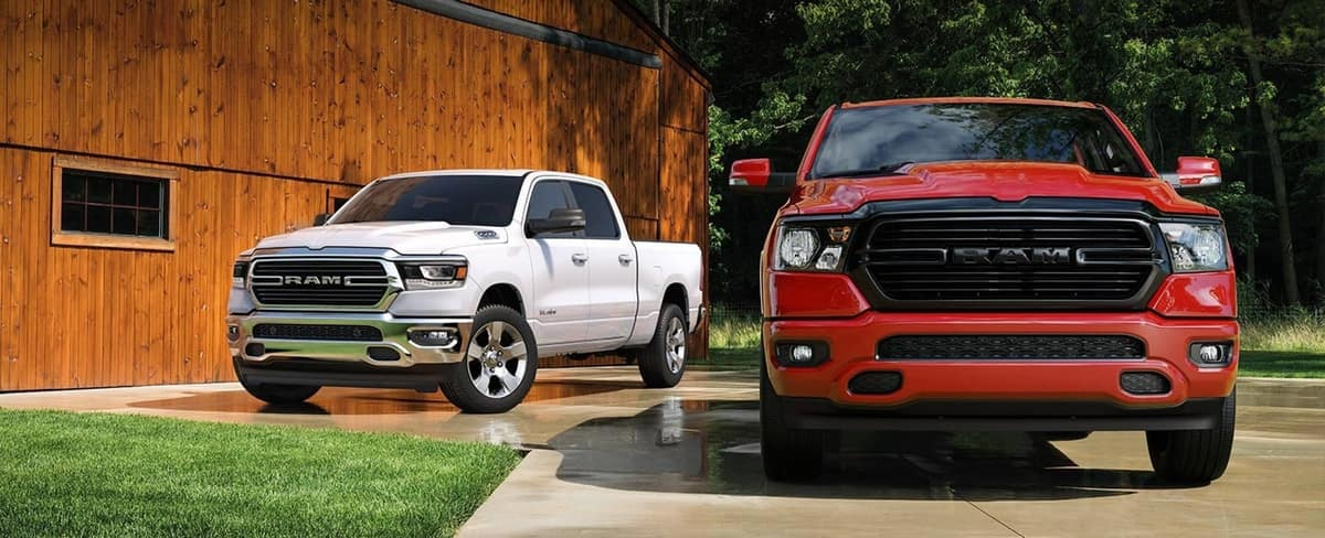 2020 RAM 1500, White and Red
