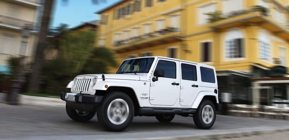 2018 Jeep Wrangler JK bright white exterior