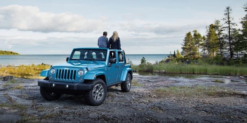 2018 Jeep Wrangler JK front view blue exterior model