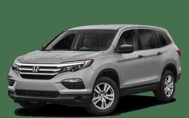 2018 Honda Pilot LX white exterior model