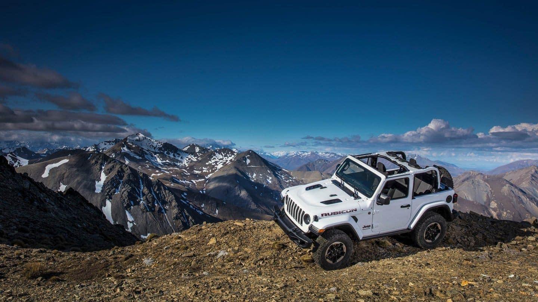 2018 Jeep Wrangler white exterior