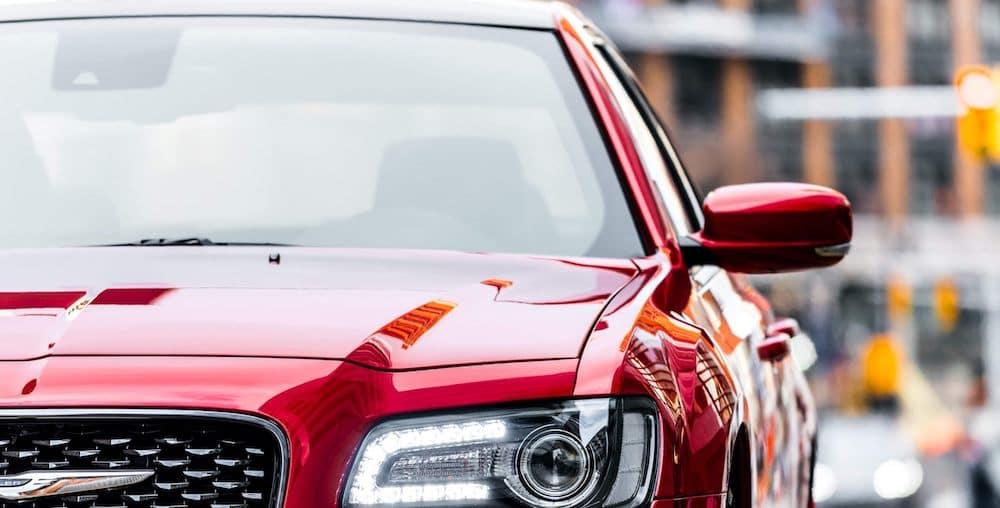 Red Chrysler 300 Sedan Up Close