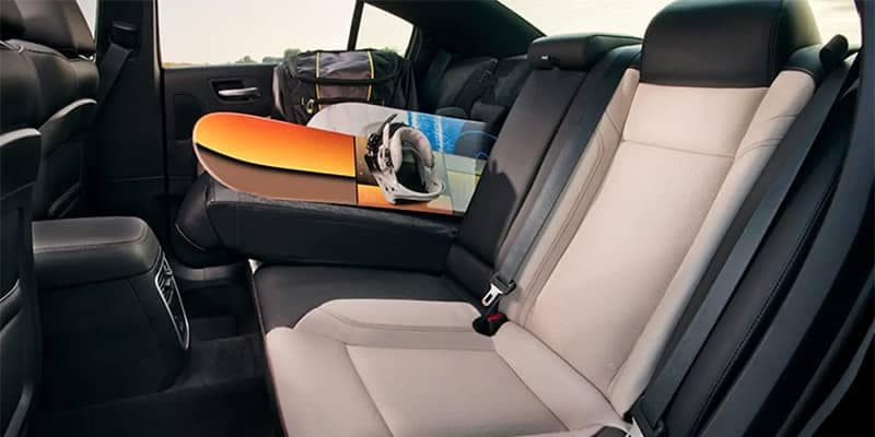 2019 Dodge Charger with Rear Seat Folded Down for More Cargo Storage