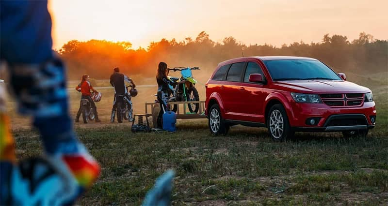 2019 Dodge Journey Towing a Trailer with Dirtbikes