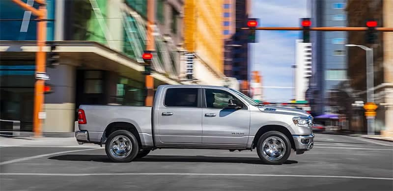 2019 Ram 1500 Driving Through the City
