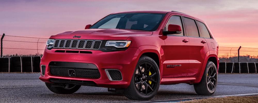 2019 Grand Cherokee red SUV