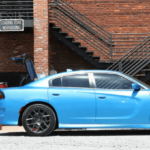 2019 Dodge Charger blue sports car