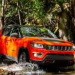 2019 jeep compass off-roading forest