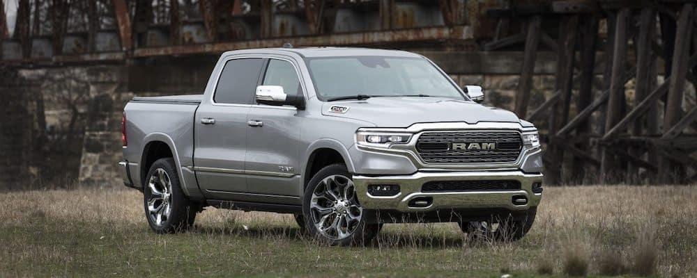 Silver 2020 RAM 1500 in a Field