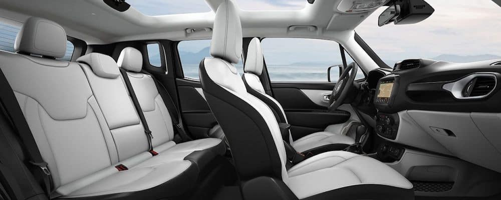 2019 Jeep Renegade front and rear seats