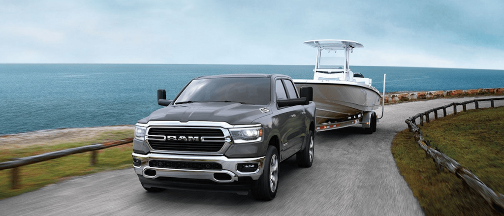 2020 RAM 1500 towing boat