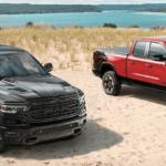 2020 RAM 1500 configurations Big Horn and Laramie trim levels on beach