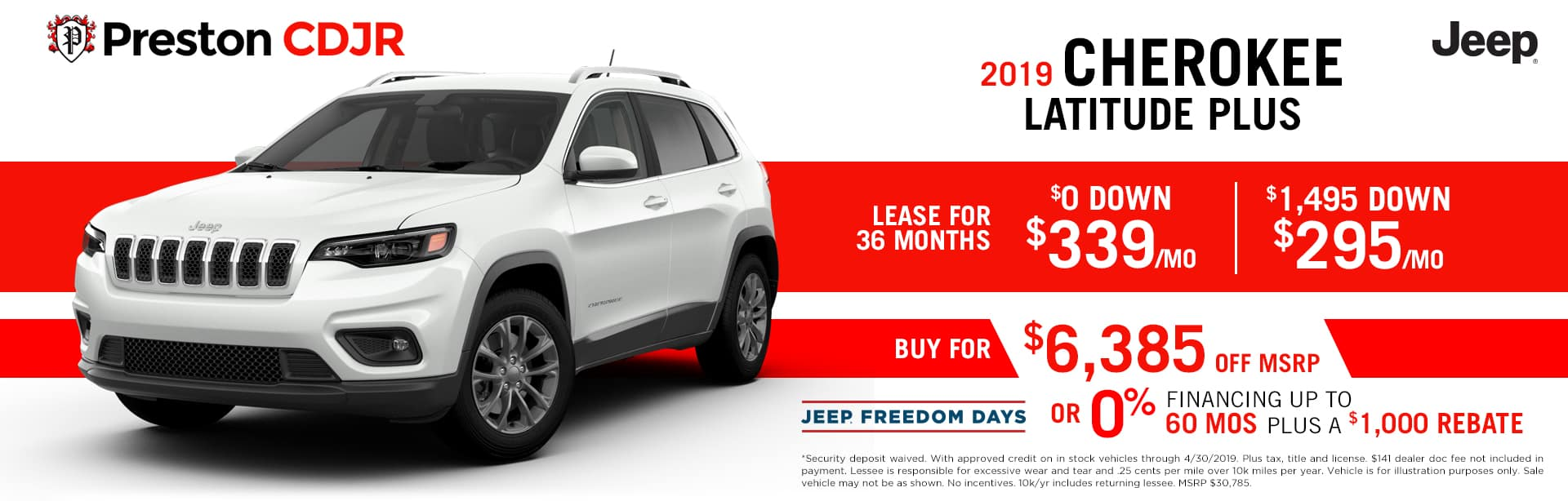 deal jeep cherokee latitude