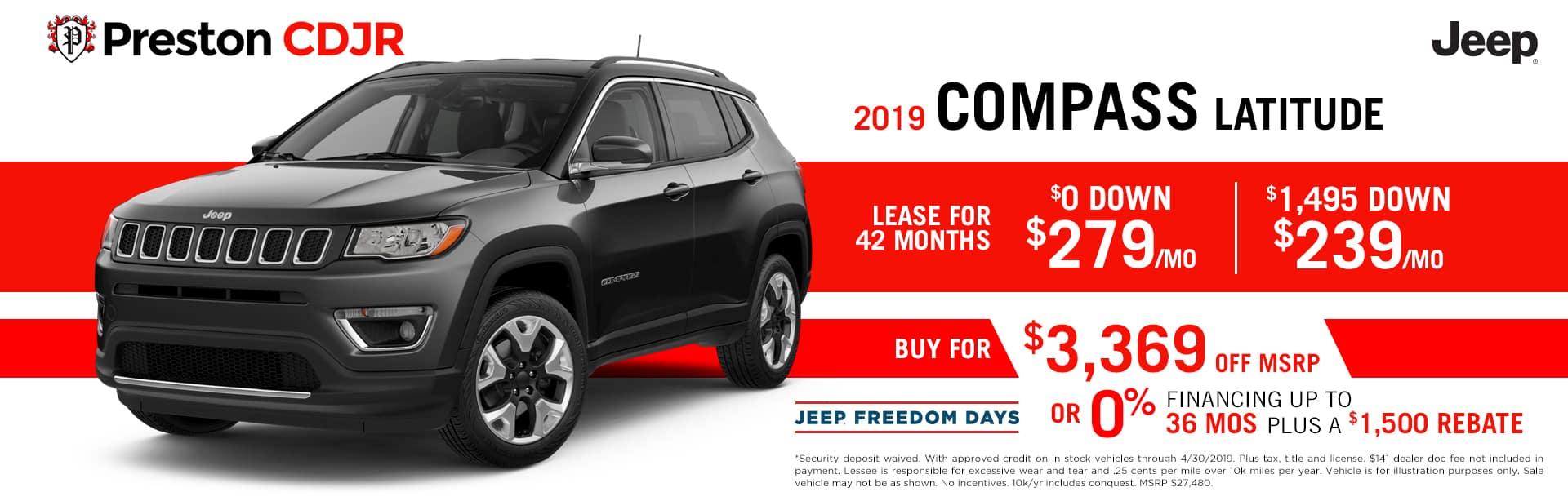 deal jeep compass latitude