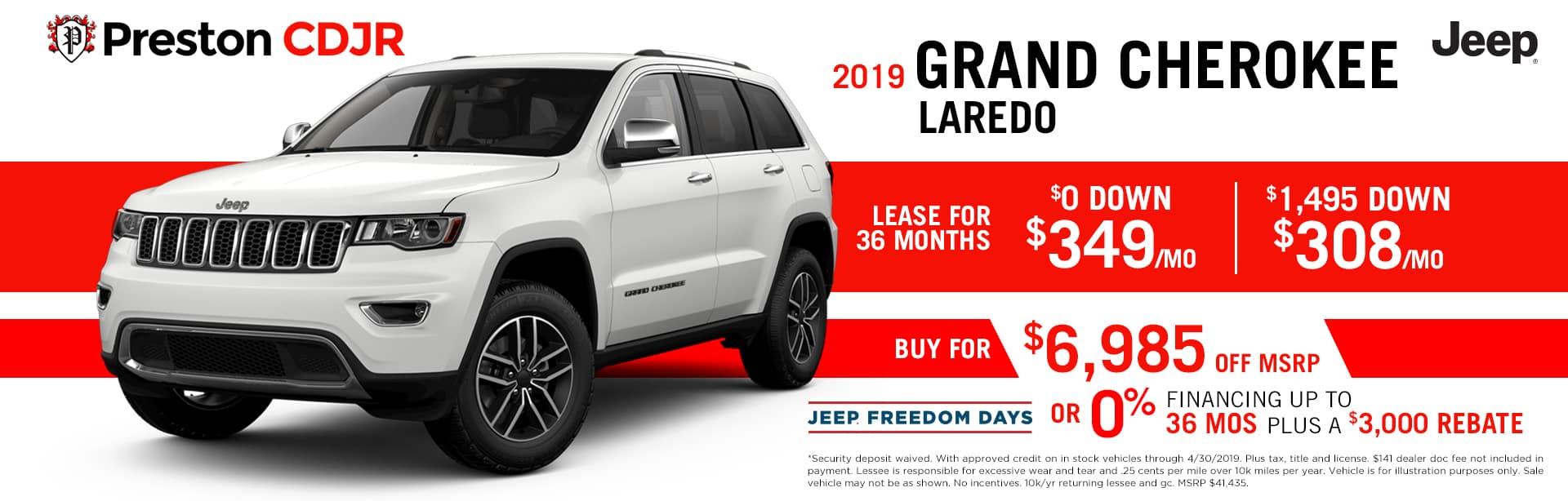 deal grand cherokee laredo