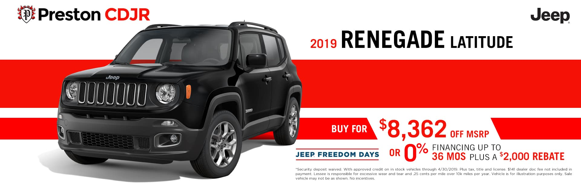 deal jeep renegade latitude