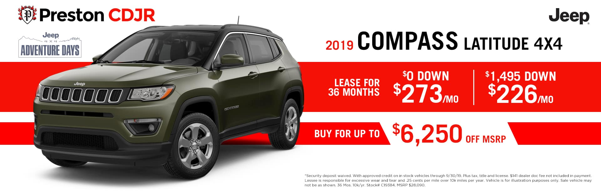 September special on the 2019 Jeep Compass