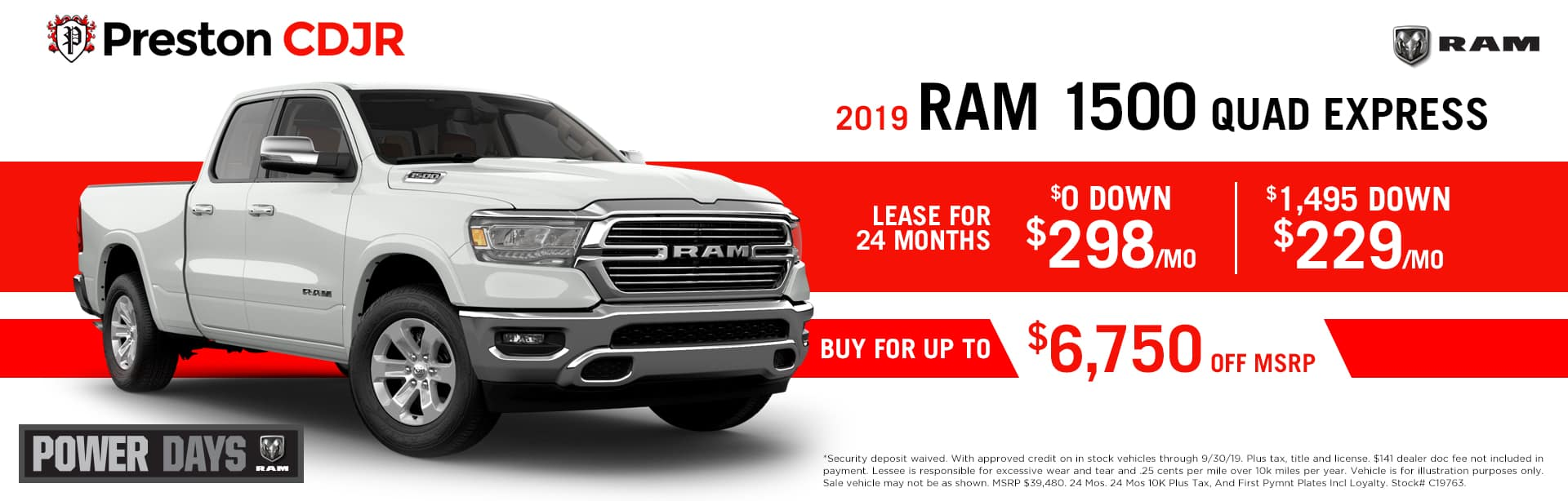 September special on the 2019 RAM 1500