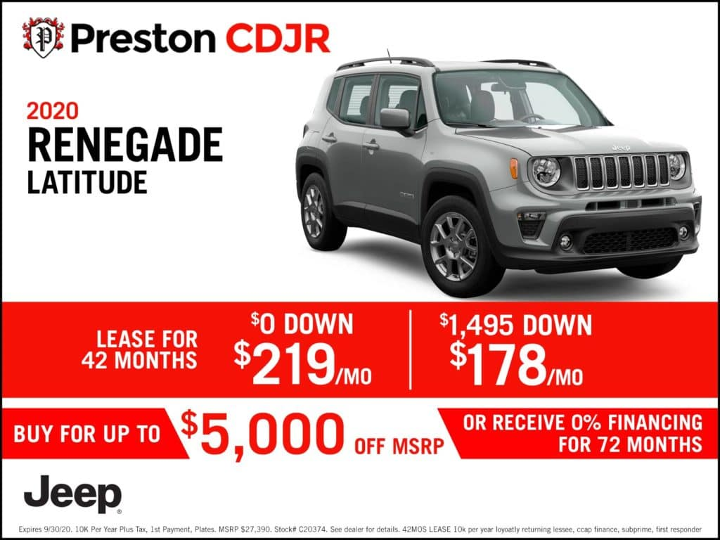 2020 Renegade Latitude