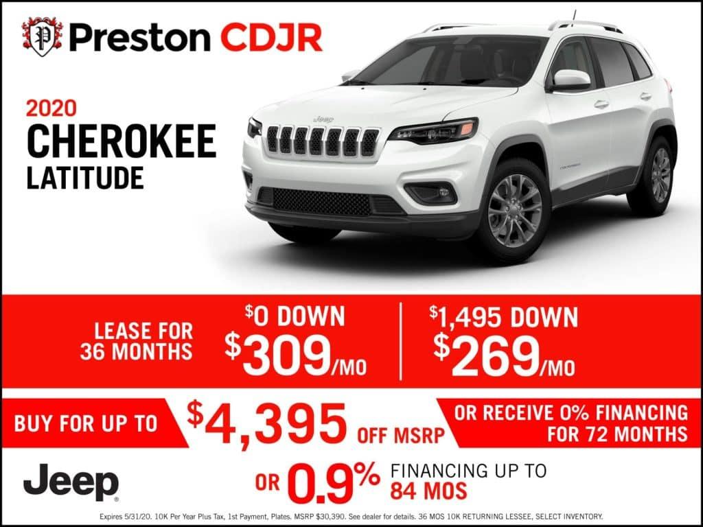2020 Cherokee Latitude Plus