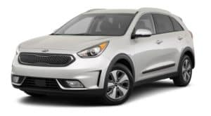 A silver 2019 Kia Niro, which will look similar to the 2020, is facing left.