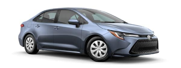 A grey 2020 Toyota Corolla is facing right.