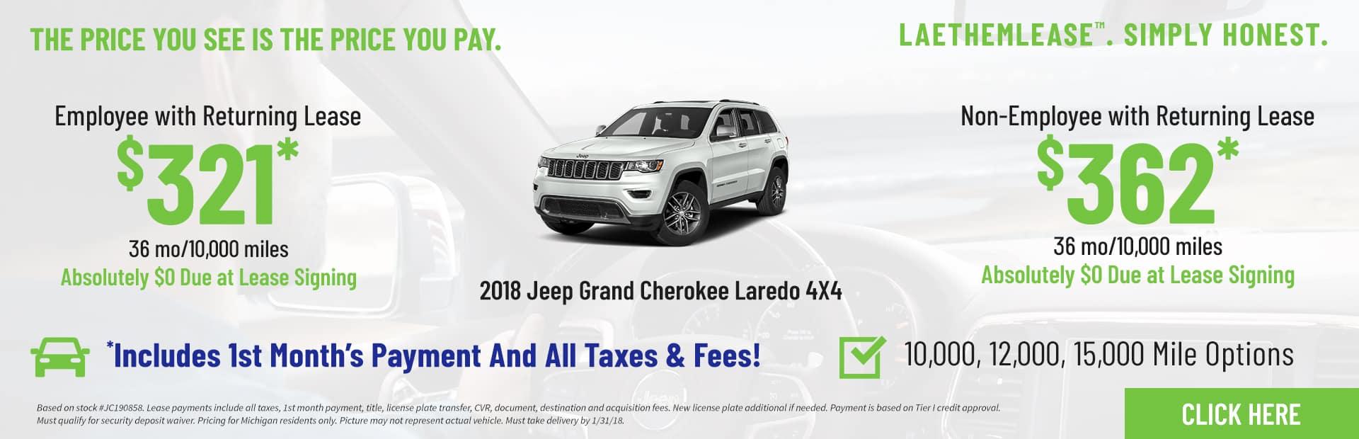 Grand Cherokee Laredo LaethemLease