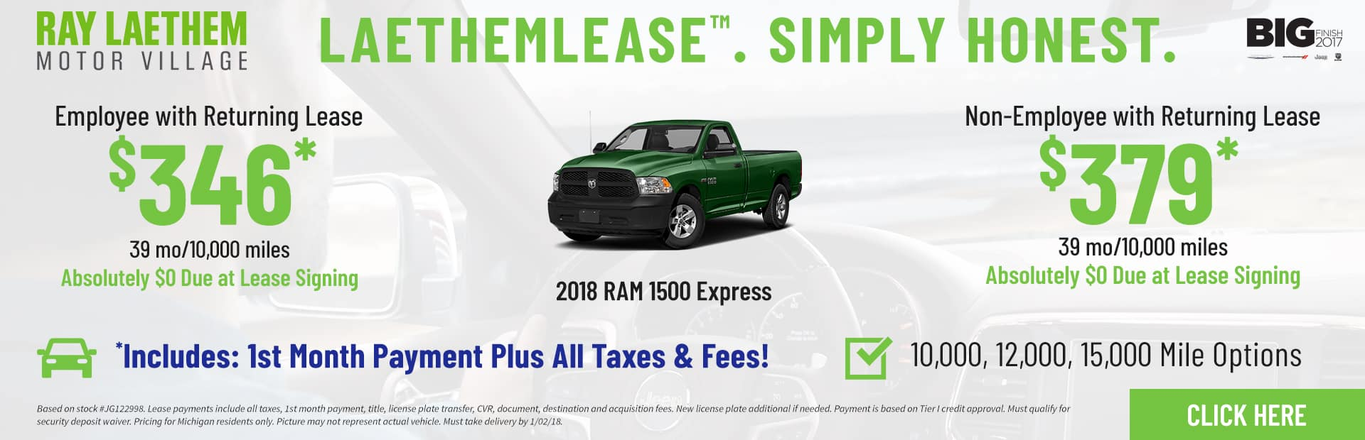 RAM 1500 Express LaethemLease