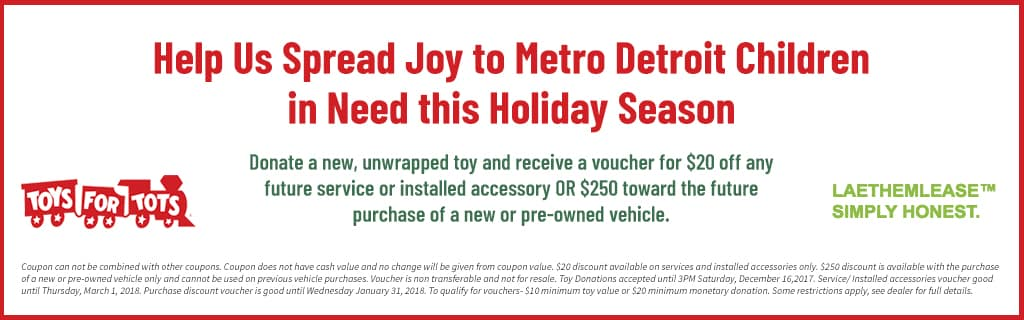 Ray Laethem Chrysler Jeep Dodge RAM Is An Official Toys For Tots Drop Off  Location!