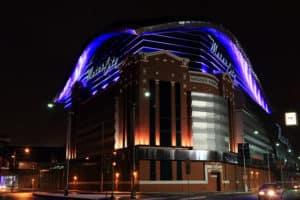 Outside view of Motor City Casino in Detroit, MI