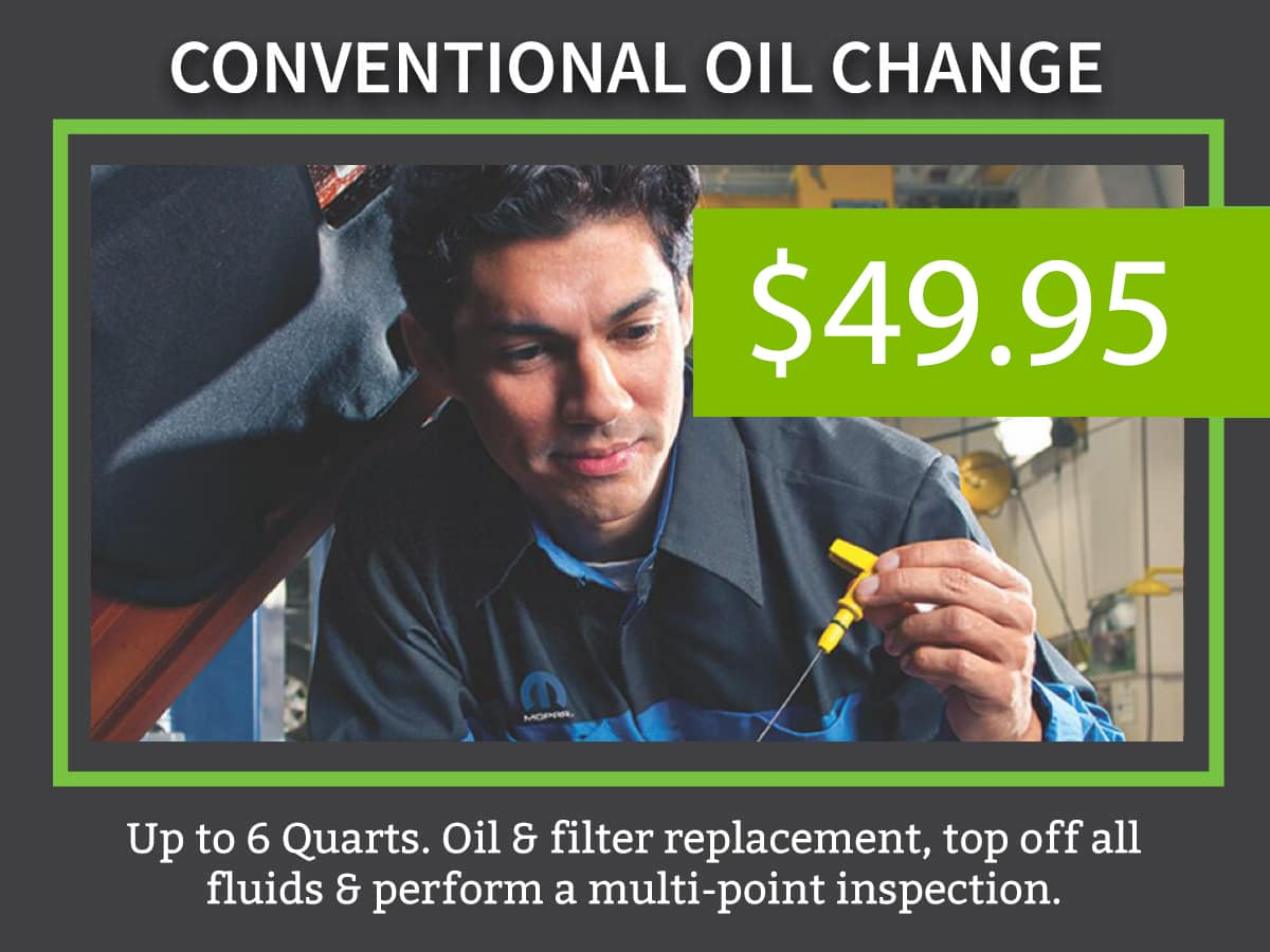 Conventional Car Oil Change Coupon