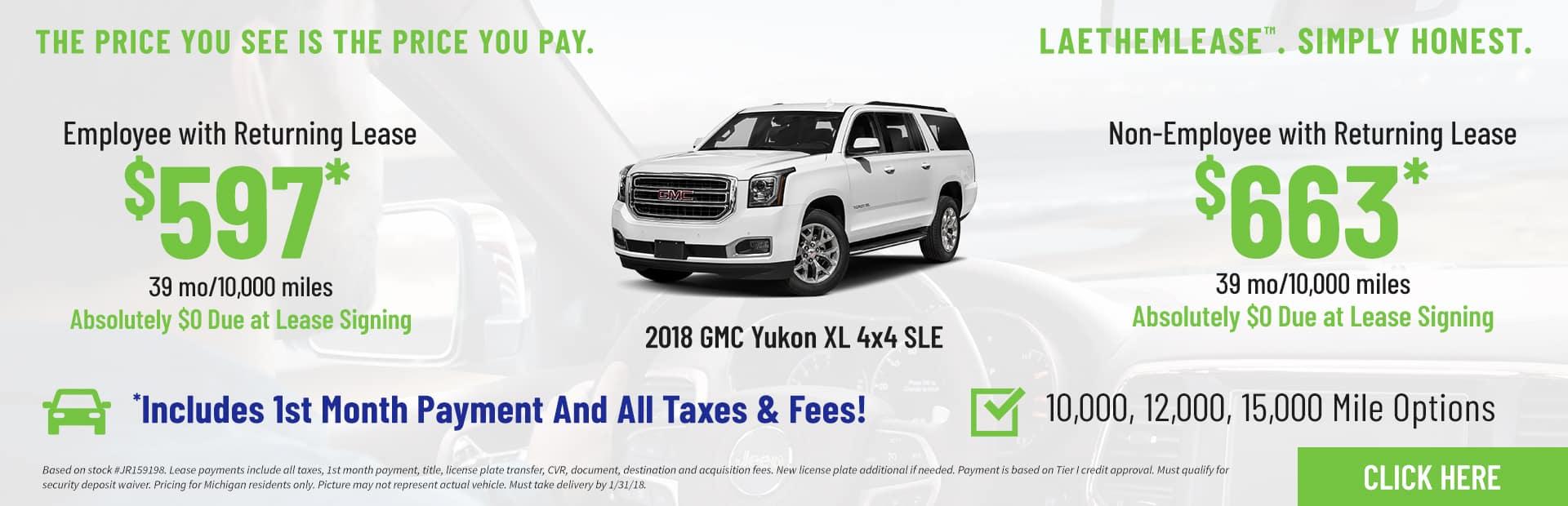 Yukon XL SLE LaethemLease