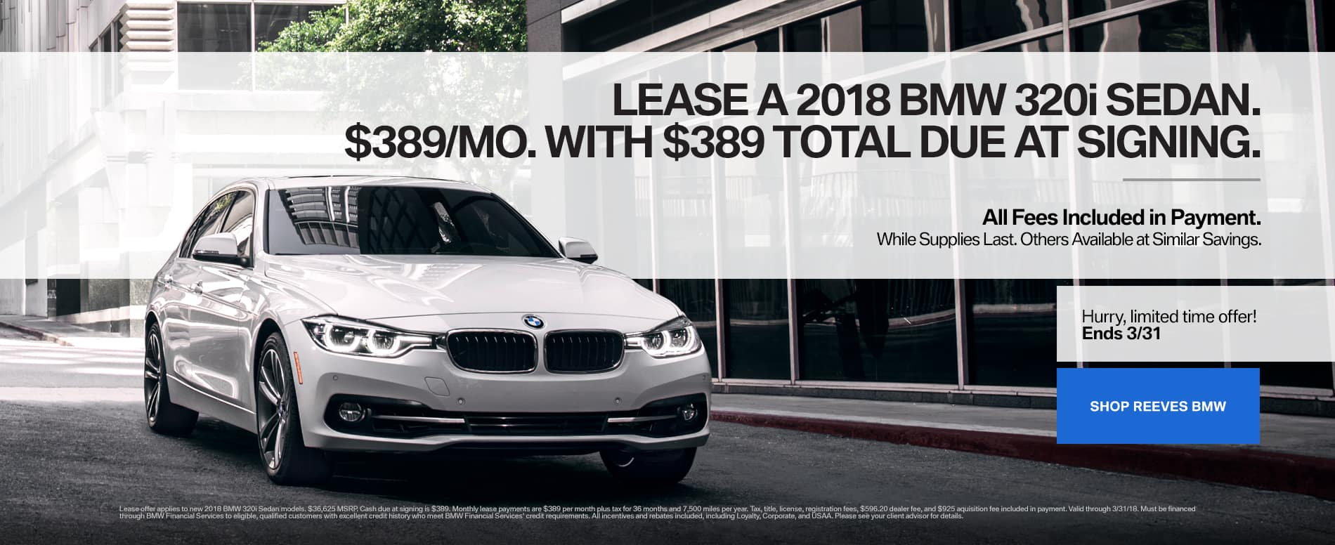 320i BMW March Lease Special