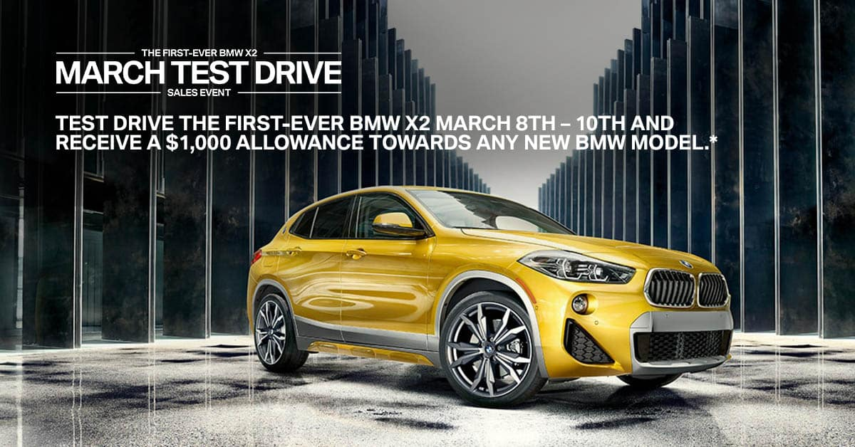BMW X2 Test Drive Special Offer