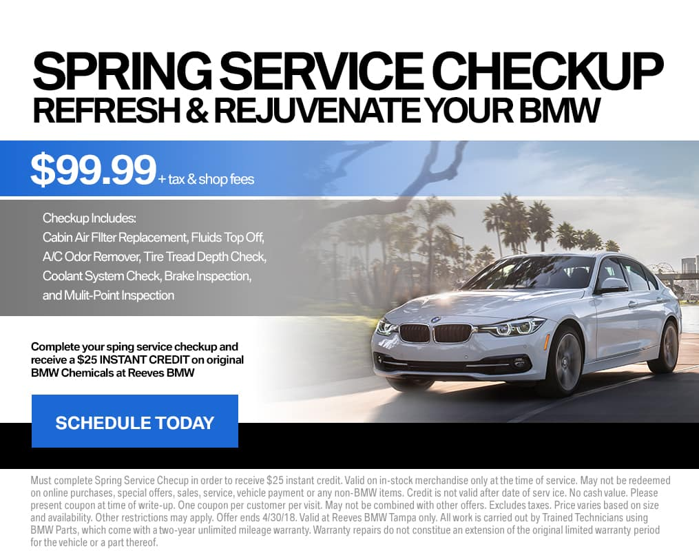 BMW Spring Service Checkup