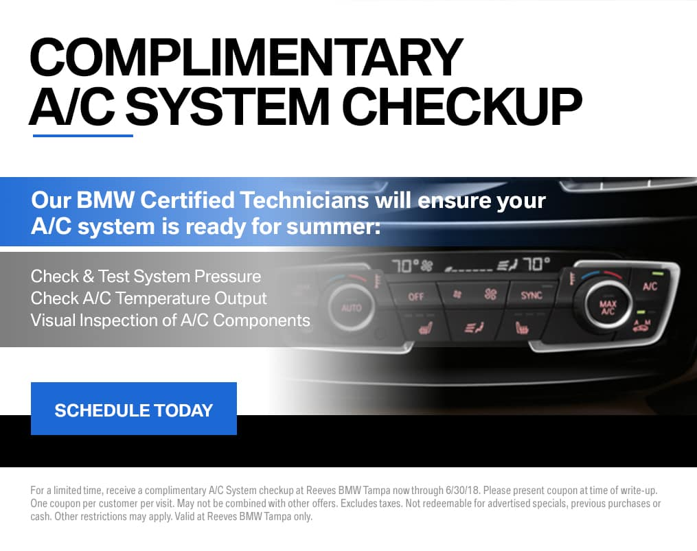 BMW A/C Check June