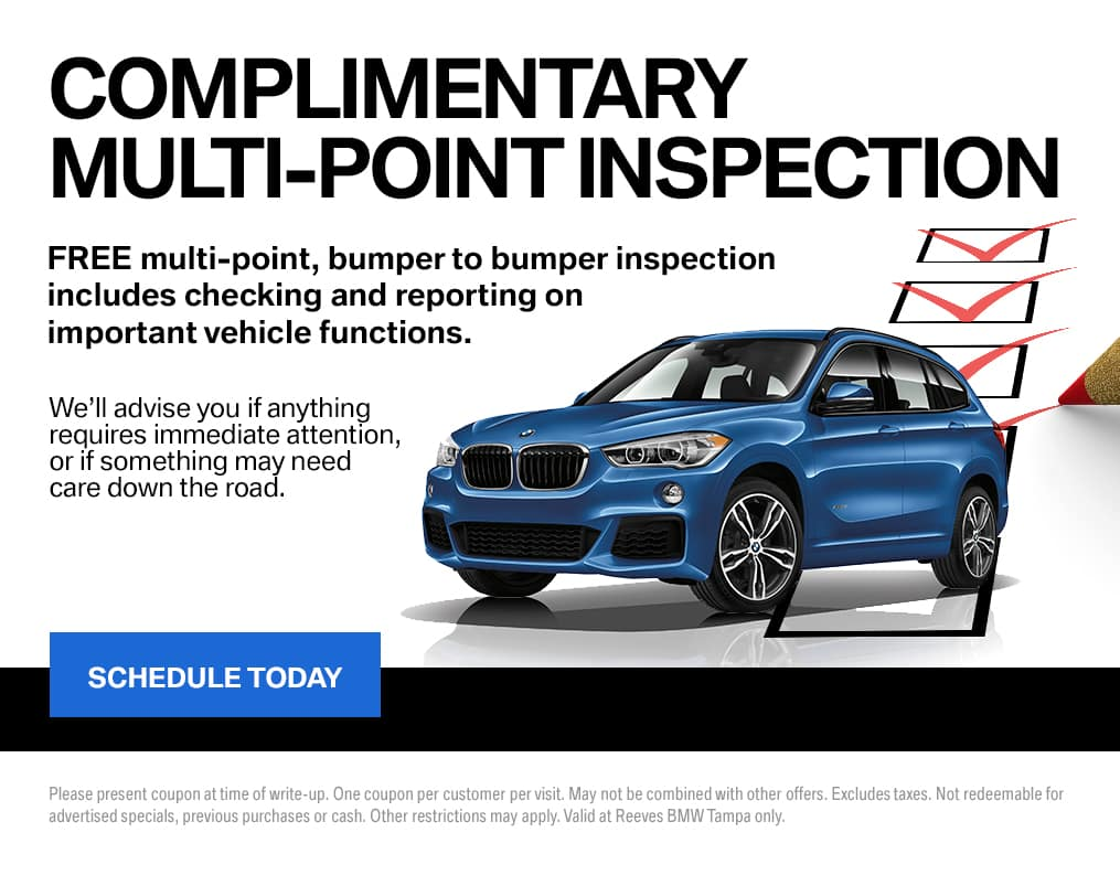 June BMW Multipoint Inspection