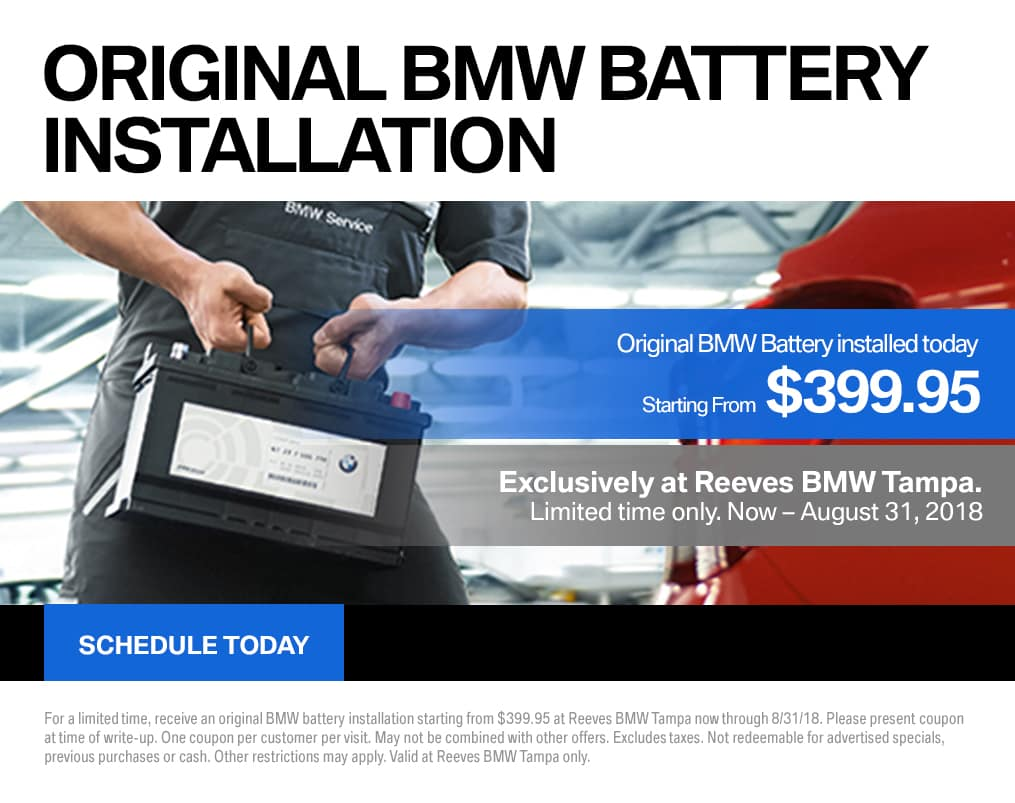 August BMW Battery Special
