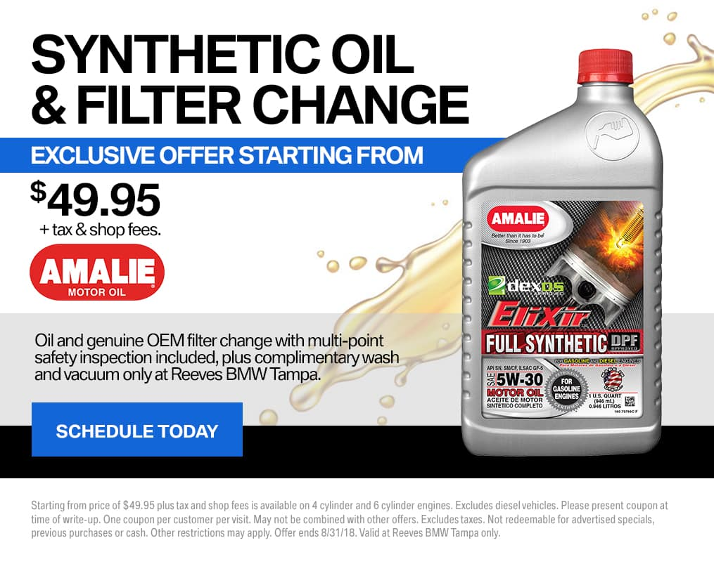 August BMW Oil Change Special