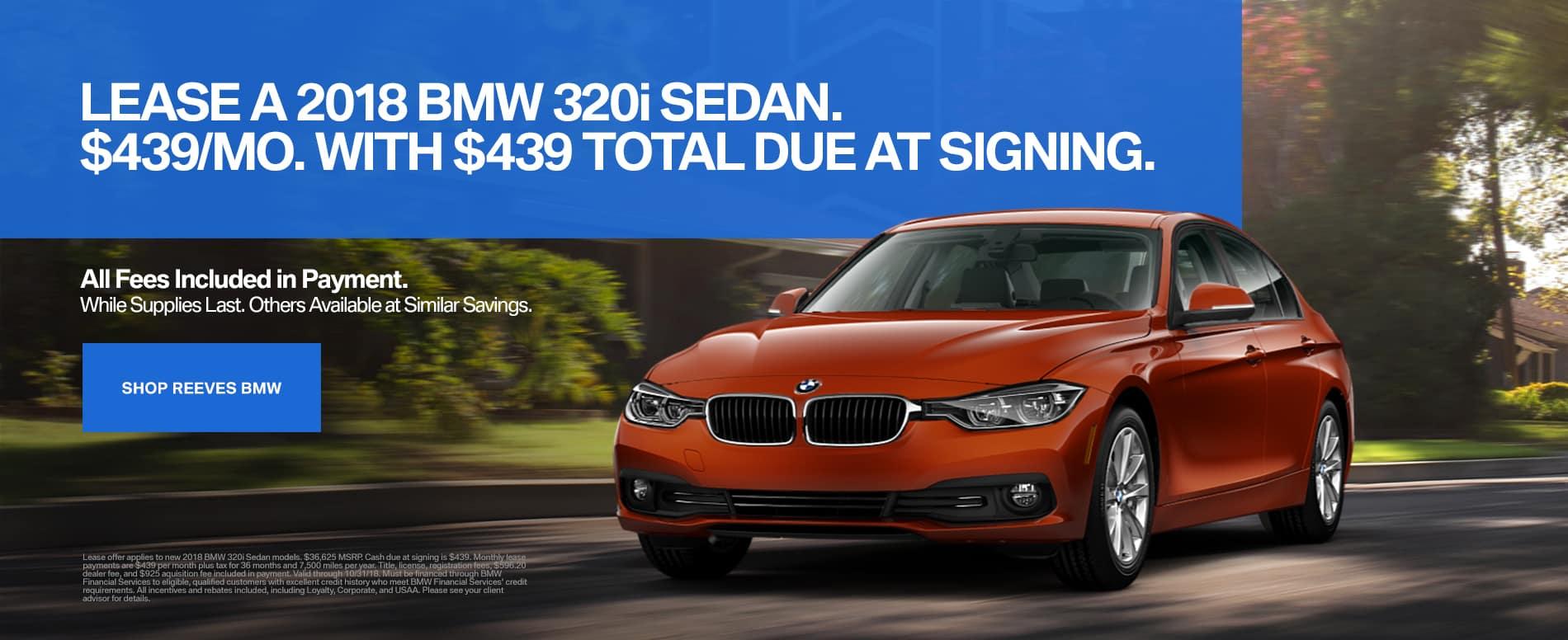 October BMW 320i Lease Offer