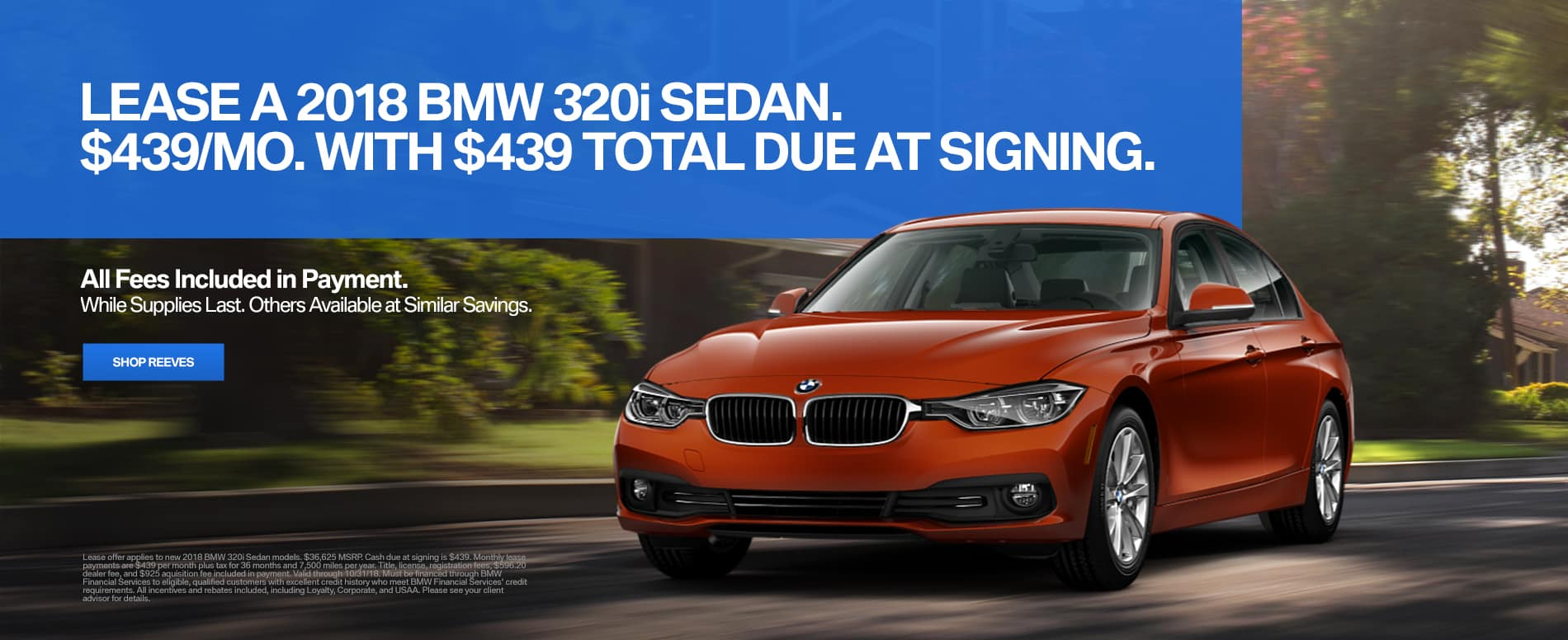 BMW 320i October Lease Offer