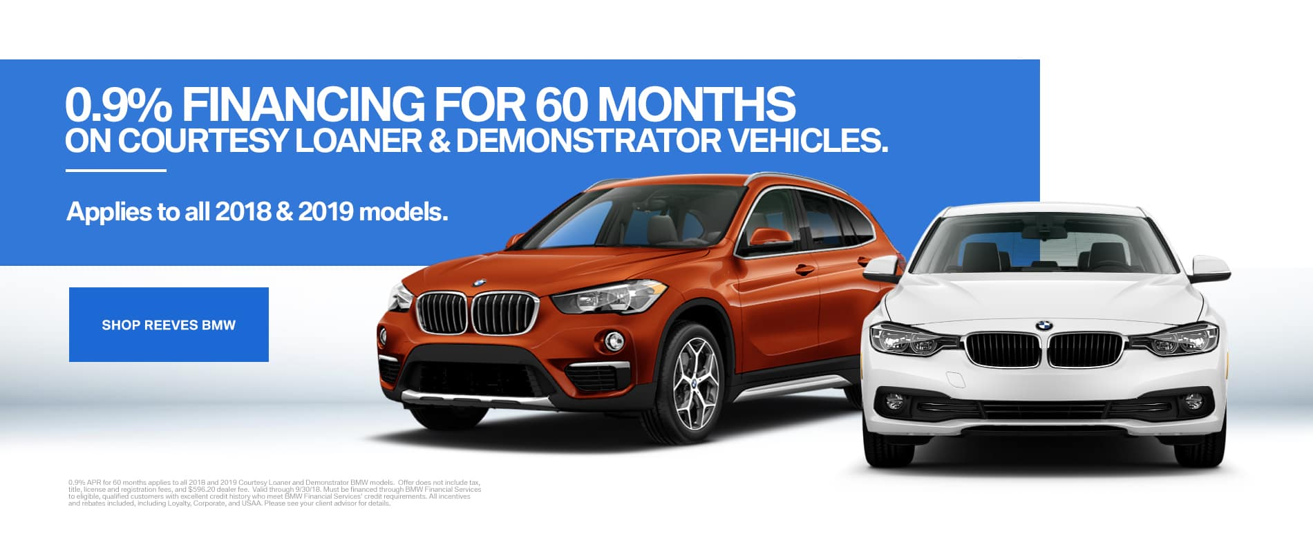 September BMW Courtesy Vehicle Specials