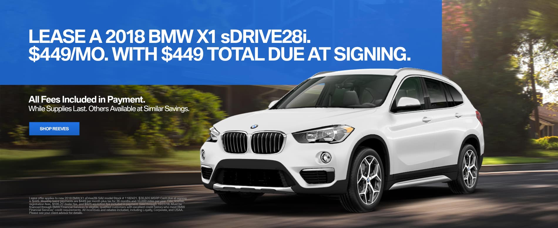 October BMW X1 Lease Special