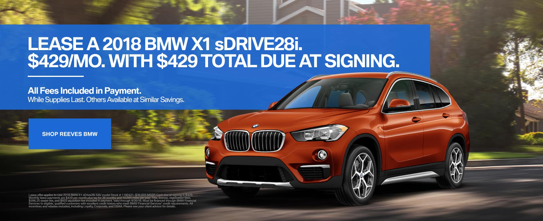 September BMW X1 Lease Special