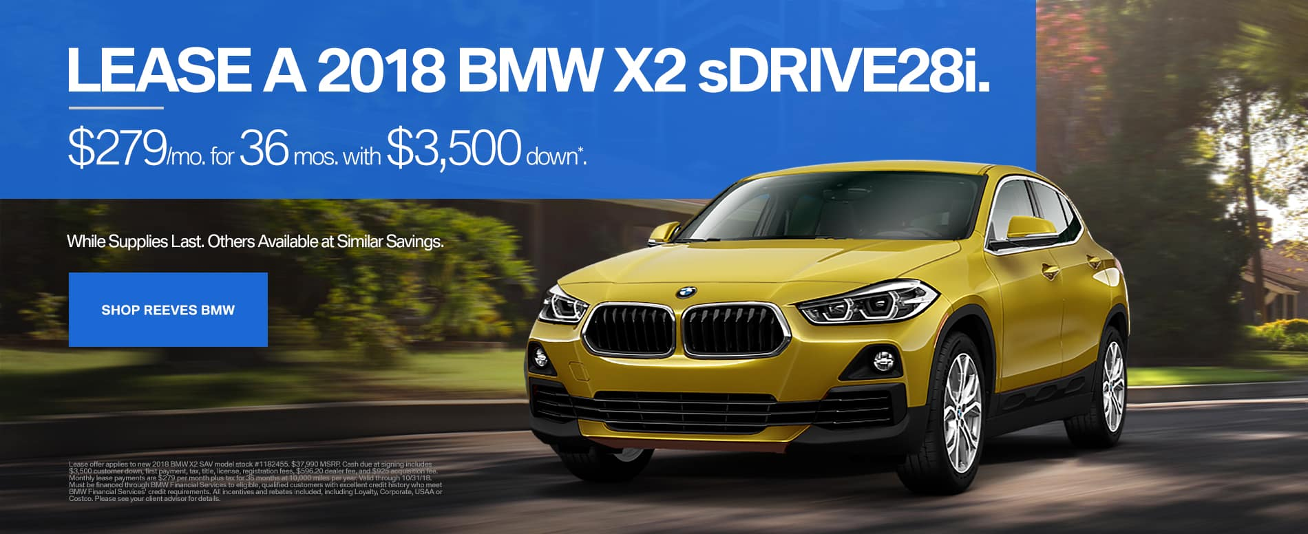 October BMW X2 Lease Special