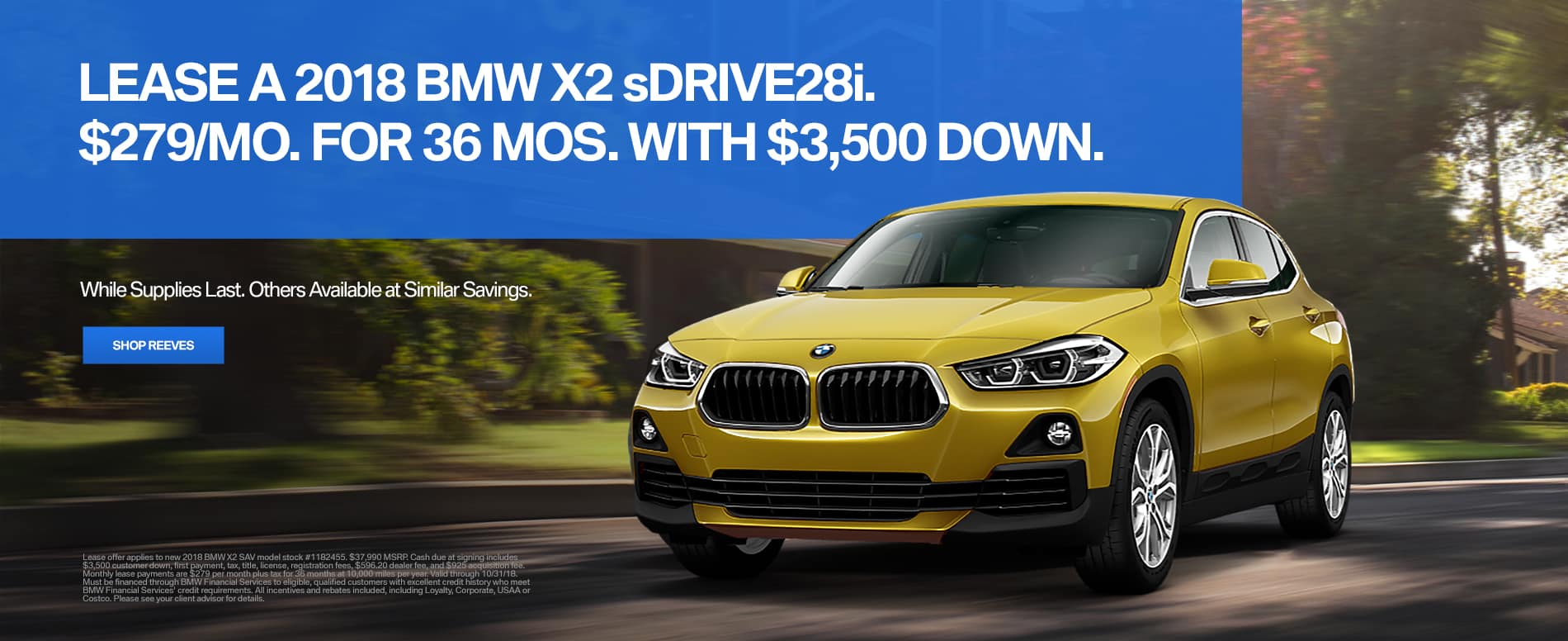 BMW X2 October Lease Special