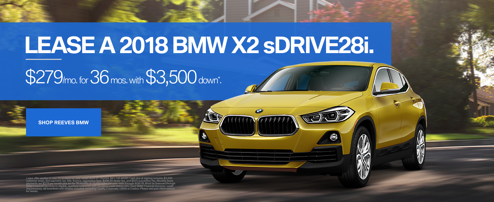 September BMW X2 Lease Offer