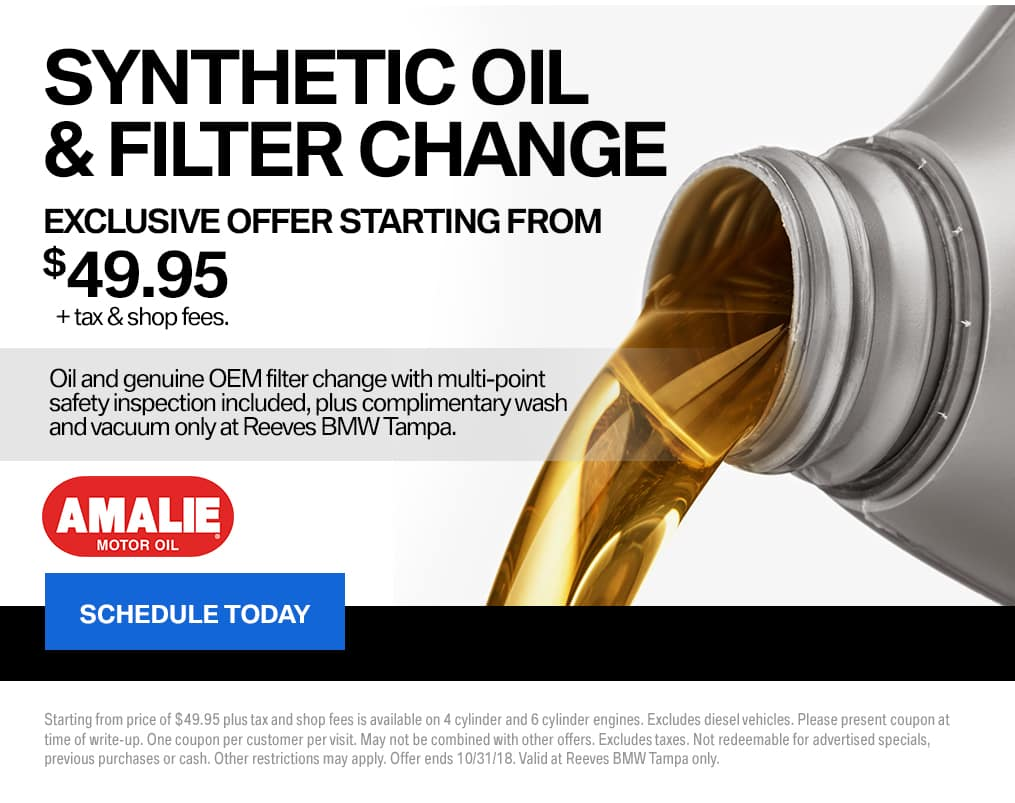 October Reeves BMW Oil Change Special